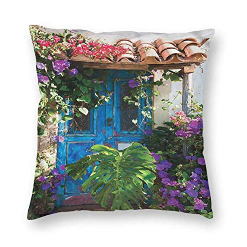 YUAZHOQI Pillow Covers 20' x 20', Rustic,Countryside Flowers, Square Decorative Pillowcases for Bench Couch Livingroom(1 Pack)