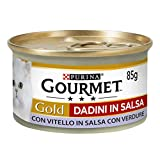 Gourmet Purina Gold Umido Gatto Dadini in Salsa con Vitello...