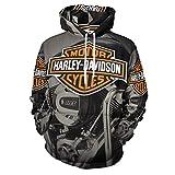 Harley Davidson - Sudadera con capucha unisex para hombre