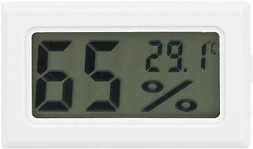 【?????? ?? ???????】Pantalla digital LCD fácil de usar Termómetro opcional en blanco y negro, medidor de humedad con error de medición pequeño, humedad para temperatura(white)