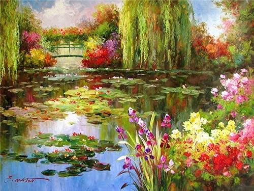 5d bricolage diamant peinture rivière plein cercle fleur diamant broderie mosaïque paysage à la main diamant peinture A5 60x80 cm
