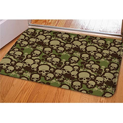 ZheQR Teppiche Tapetes Creative Football Field Print Vordereingangstür Bodenmatte Fußmatte Bape Teppich für Bad Küche Toilette, CA4771CN, 400 mm x 600 mm