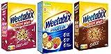 Weetabix 3 pcs. trial set Minis Fruit & Nut, Choco & Protein - Céréales pour petit déjeuner - Céréales complètes - Riche en fibres, 2x450g+1x440g