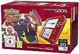 Console Nintendo 2DS - transparente rouge + Pokémon Rubis Oméga