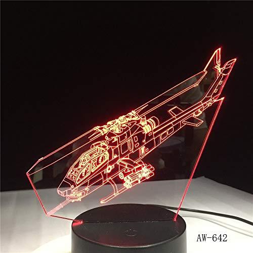 Jiushixw 3D acryl nachtlampje met afstandsbediening, kleurverandering, tafellamp, vlak, laag achteraanzicht, kleedkamer, hoofdgeleider, baby, niet-tafellampring