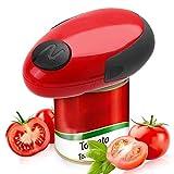 Abrelatas eléctrico Manual de abrelatas eléctricos de manos libres de la cocina con un solo botón de ahorro de Trabajo Elección del botón artrítico de restaurante del Rojo + Negro 1 Set (sin batería)