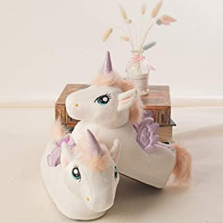 Cartoon Plush Slippers Girls Winter Warm Home Slippers Indoor Shoes Slippers Cotton Shoes Zhaozb (Color : Beige, Size : 1)