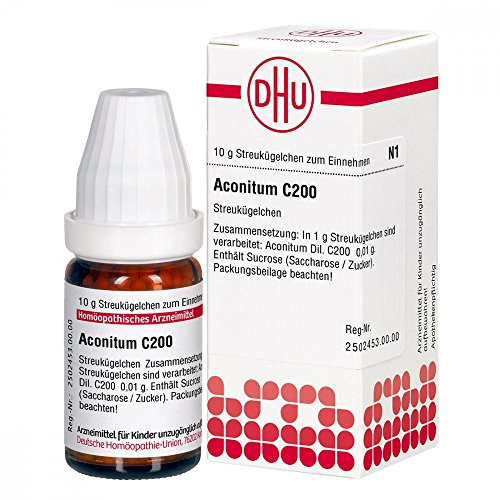 DHU Aconitum C200 Globuli, 10 g Globuli