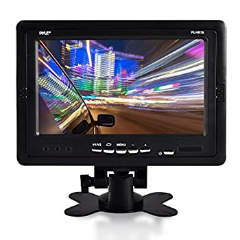 """Premium 7"""" Inches Rearview Car LCD Monitor by Pyle – Parking Monitor Assistant with Wireless Remote Control – Full Color Wide Screen – Can Be Installed in Headrest Post  PLHR70"""