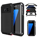 seacosmo Coque Samsung S7 Edge, Antichoc [Tough Armor] Heavy Duty Metal Robuste Etui Anti-Fine Protection Housse Compatible avec Samsung Galaxy S7 Edge 5.5'- Noir