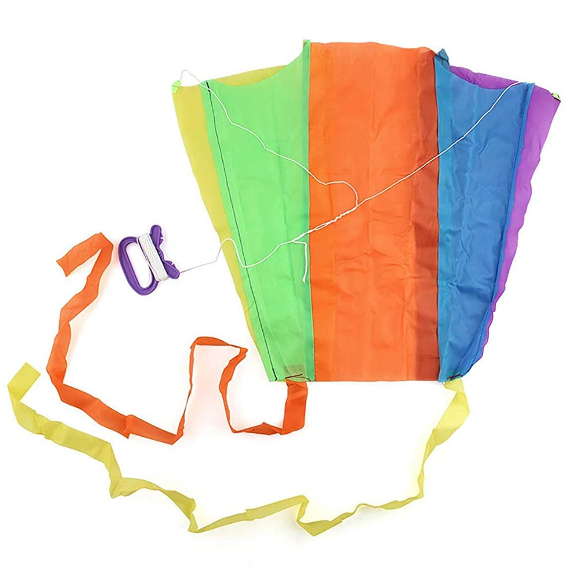 Tcplyn Premium Quality 1pc Portable Children's Colorful Mini Pocket Kite Outdoor Fun Sports Software Kite Flying Gift for Kids
