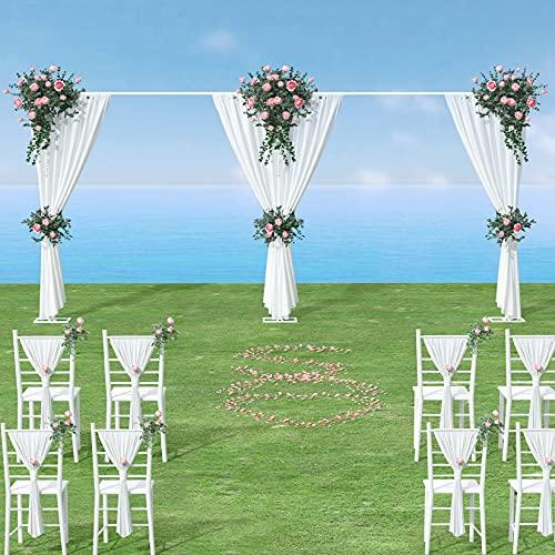 Arco matrimonio ferro, 3x6m Arco da giardino in ferro cornice ad arco arco in metallo per palloncini supporto per palloncini arco regolabile altezza