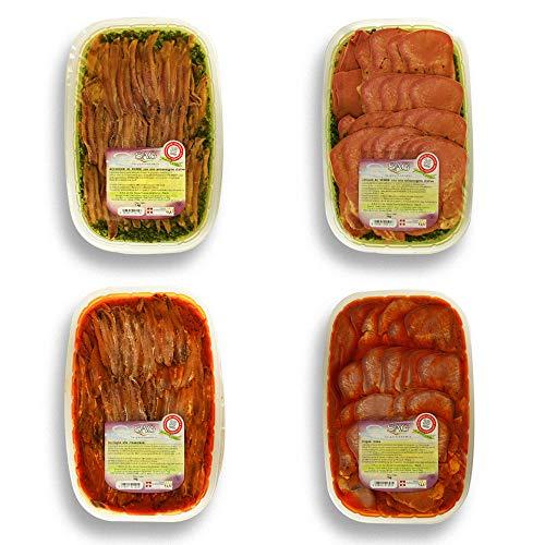 Cesto specialità gastronomiche piemontesi con acciughe e lingue di bovino SAG – 4 pz. Da 1 kg