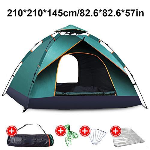 ZYQDRZ Pop-up Tent, Portable Beach Tent, Suitable For Family Garden Camping Family Garden Fishing Tent,Bronze,210 * 210 * 145cm