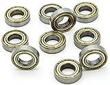 Miki&Co 6901Z - Rodamientos de Bolas radiales sellados (10 Unidades, 12 x 24 x 6 mm)...