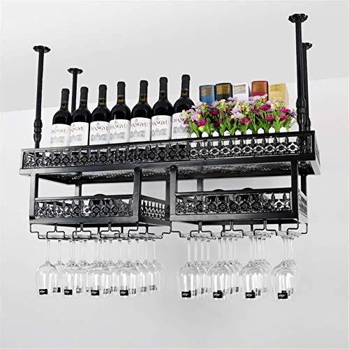 Estantería de vino Vino estante de la barra colgante retro copa de vino rack de altura de cristal Estante revés estante del vino nórdico pared barra de colgar Decoración colgante portabebida estante d