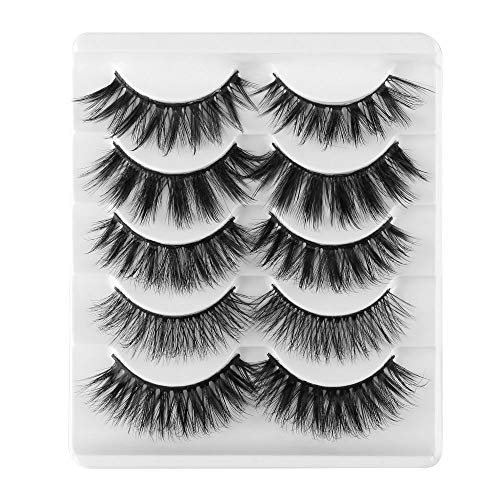 Mode wiederverwendbar Vollständige Streifen Beauty Makeup Handarbeit Falsche Augenbrauen Natürliche Lange 3D Faux Mink Hair Wispy Fluffy(GL700)