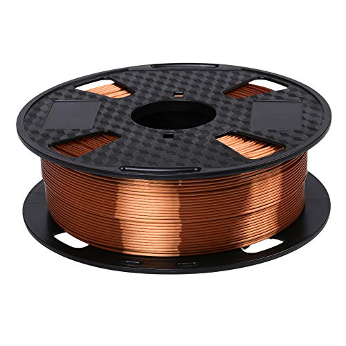 Filamento Eono by Amazon Silk Copper PLA 1.75 mm Filamento de impresora 3D 1KG 2.2 LBS Carrete Material de impresión 3D Brillo Sedoso Metálico Brillante Metal PLA Filamento