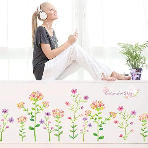 Dalao wandetiket bloem botten plint veranda badkamer hoek TV decoratie wandsticker PVC
