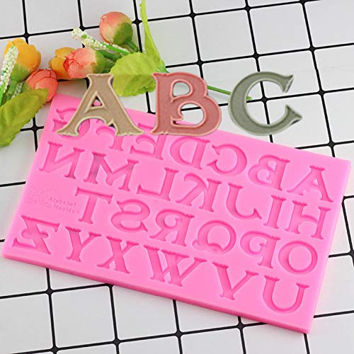 VIOYO 3D Baking Silicone Capital Letters Shape Cake Molds Alphabet Chocolate Cookie Candy Molds Fondant Cake Decorating Tools