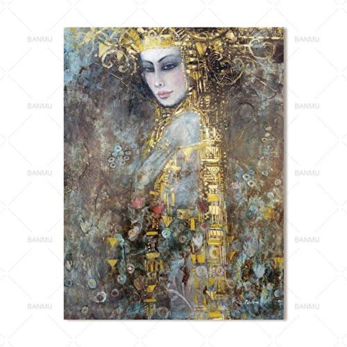 SQSHBBC Leinwand MalereiDruck auf leinwandWandkunstBild Modernewohnkultur wandkunstBunte Figuren40X60 cm X 1 STÜCK kein Rahmen