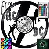 Reloj de pared ACDC RGB LED Pilot para mando a distancia, disco de vinilo, moderno, decorativo para regalo de cumpleaños