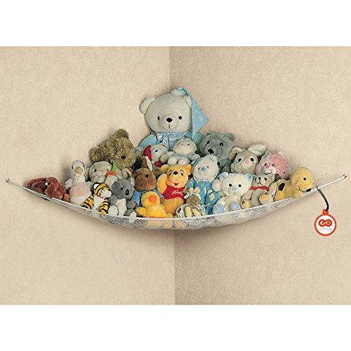 Aufbewahrungnetz kuscheltiere Spielzeug-Netz Aufbewahrungsnetz Organizer für Kuscheltiere Spielzeug Ordentlich Aufbewah