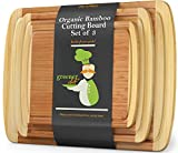 Wood Bamboo Cutting Board – Set of 3 – 3-PIECE PREMIUM VALUE...