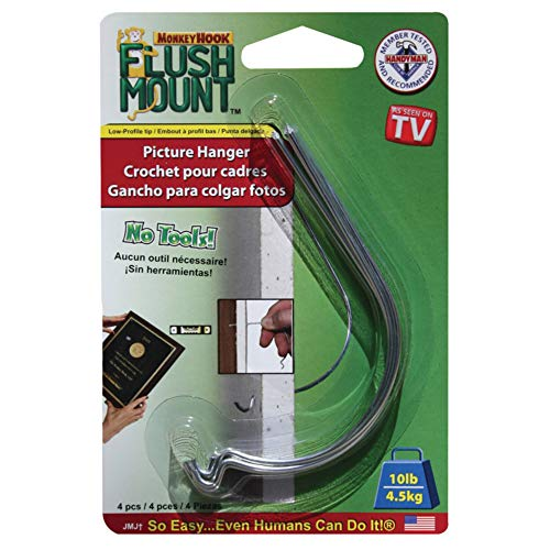 Flush Mount Picture Hanger For Drywall And Sheetrock - As Seen On TV