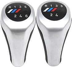 TAYDMEO Pommeau de Vitesse de Voiture 5//6 Vitesses avec Logo M pour BMW s/érie 1 3 5 6 E81 E82 E87 E90 E91 E92 E93 E30 E36 E46 E30 E60 E61 E34 E39