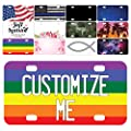 Be Burgundy Custom License Plate for Cars - 12 x 6 inches - Your Text Here, Aluminum Novelty License Plates - Rainbow