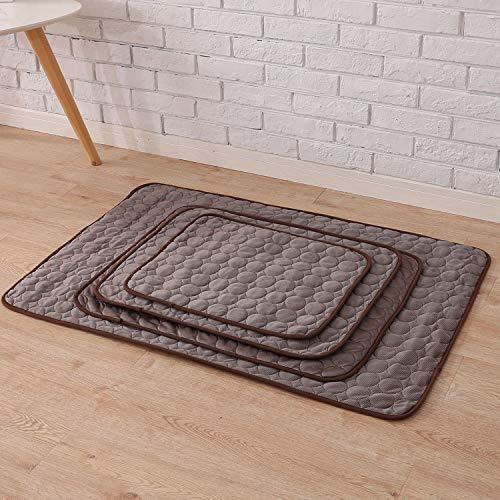 Fostudork BedMats LGH 3 capas de perro, enfriamiento mate hielo, seda, tamaño pequeño, tamaño mediano para perros, camas obscenas, sofá/suelo/asientos de coche, puppy, plateado, XL – 98 x 70 cm
