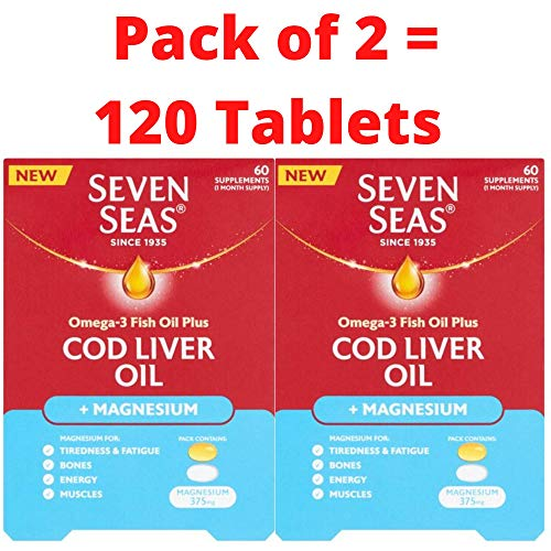 Seven Seas Omega-3 Fish Oil Plus Cod Liver Oil + Magnesium 60s