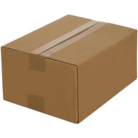 100 Cardboard 250x175x100 MM Cardboard innenmass 1 wavy brown shipping box