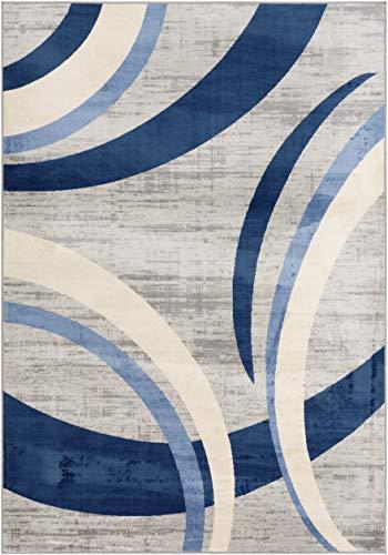 WorldWeavers Zara Teppich, Synthetisch, Navy, 2' x 3'