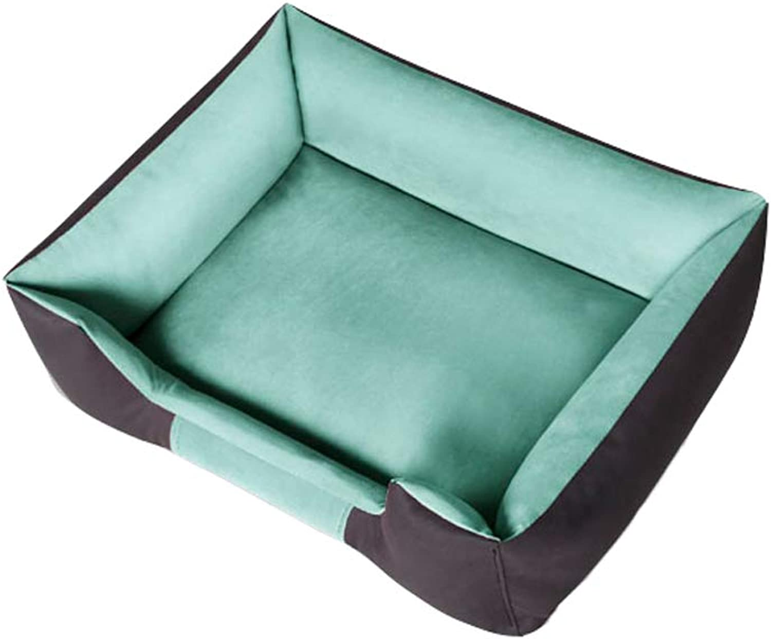 Dog Bed, Nonstick Hair Four Seasons Washable Dog House Medium Small Dog Kennel Warm Pet Mattress (color   Green, Size   M)