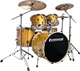 Ludwig Element Evolution LCEE220 5-piece Complete Drum Set with Zildjian Cymbals - Gold Sparkle