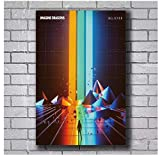 MGSHN New Imagine Dragons Believer Pop Foto Poster Leinwand