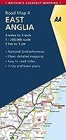 Aa East Anglia Road Map: East Anglia 4. (Aa Road Map Britain)
