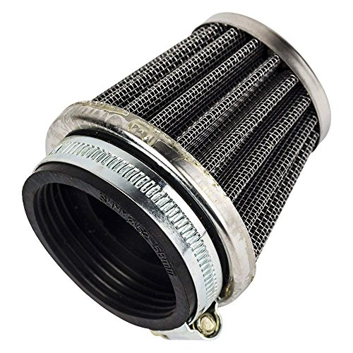 Beehive Filter 54mm Luftfilter for Motorrad ATV Oval Metallic Clamp-on Refit Ansaugtrichter Silber