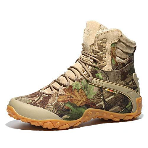 QHGao wandellaarzen met hoge schacht voor heren, militair laarzen, waterdicht en slijtvast, wandelschoenen voor avontuur in jungle