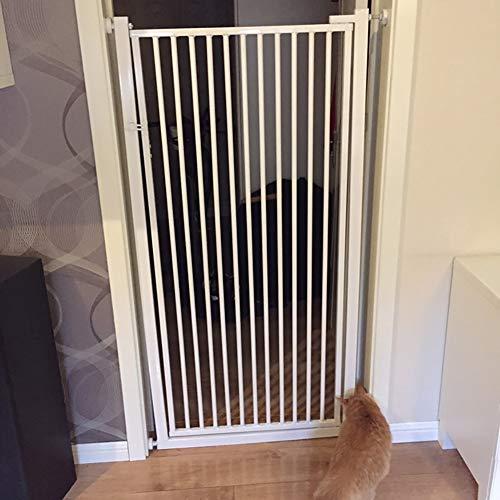 Cancelletto di Sicurezza Extra Largo Walk Through Metal Gate con Il Portello, A Parete Porta di Sicurezza per Cani A Porta, Scale, 35 \'\' Alto, Bianco (Size : 71-73cm)