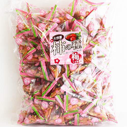 柿の種 業務用サイズ 梅しそ味 700g(112〜116袋入り) /国内製造 大容量 個包装 梅 柿ピー 落花生 しそ梅 梅干し おつまみ