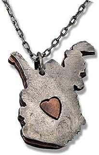 ANJU JEWELRY My Heart Belongs to West Virginia Necklace