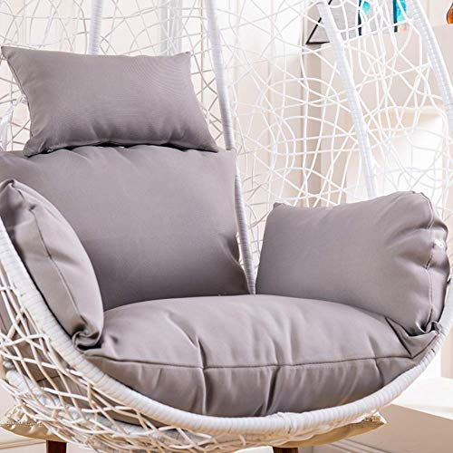 N /A Chaise en rotin, coussin de hamac, coussin suspendu, coussin de balançoire, coussin imperméable amovible en osier pour chaise sans chaise café, gris