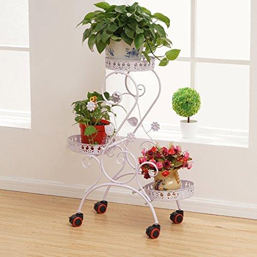 Fleur stand Iron art Multicouche poulie Pot rack salon intérieur extérieur balcon patio plante Bonsai Cadre décoratif (Couleur : C)