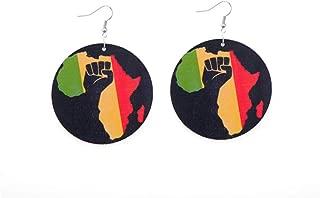 south african flag earrings