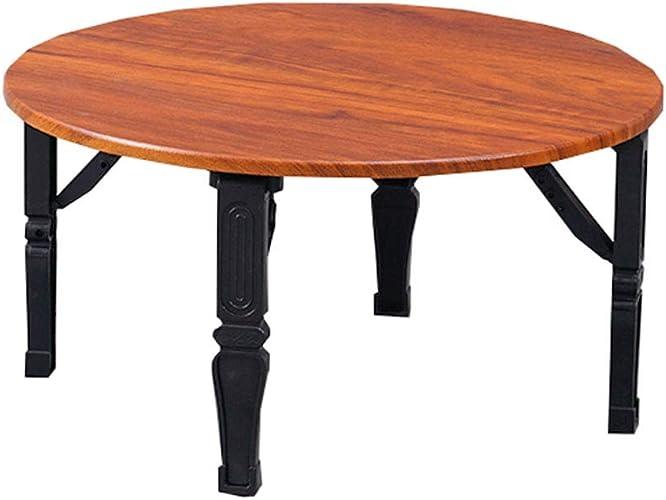 NJLC Tables De Jardin, Petite Table La Table Pliante Ronde Table Pliante MéNage,A,70×70×30cm