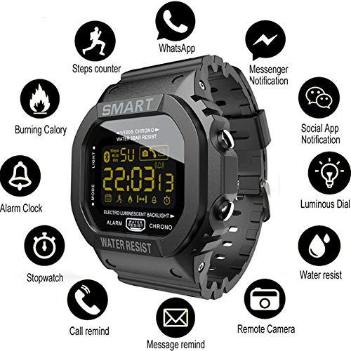 YDSBLLL Rechthoek Smart Horloge Sport Horloges Mannen Armband Smartwatch Vrouwen Digitale Elektronica Horloge Klok Alarm