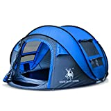 FUSIONLC Automatic Pop-up Tent for Outdoor Camping Waterproof Quick-Opening Tents 4 Person Canopy